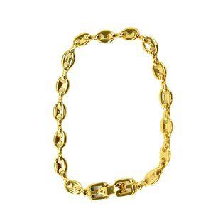 "GIVENCHY: Gold, Marina Link ""G"" Clasp Bracelet mz"